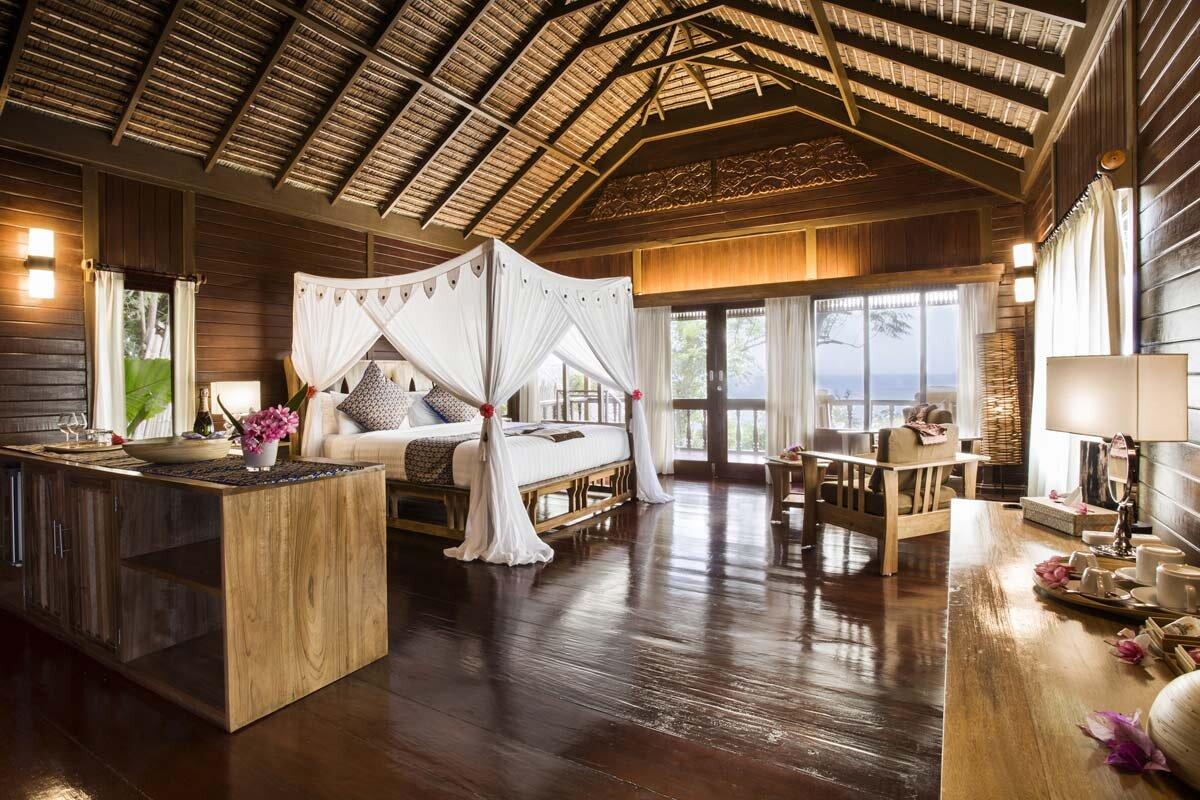 Desain Taman Batu Alam bunaken oasis dive resort spa