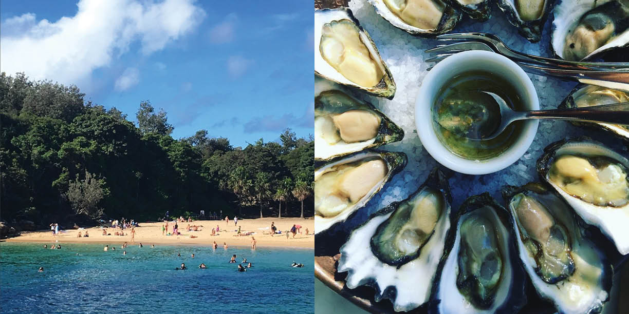Shelly Beach and Sydney Rock Oysters at The Boathouse,Photography: Marcus Hay for SMH, Inc