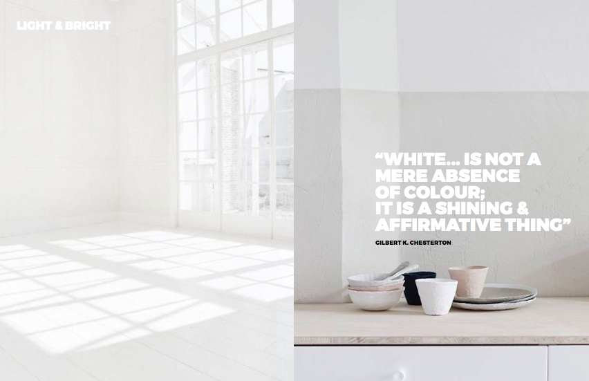 Left: An empty white room, Right: Image from then amazing Danish Design Lab  Studio Oink