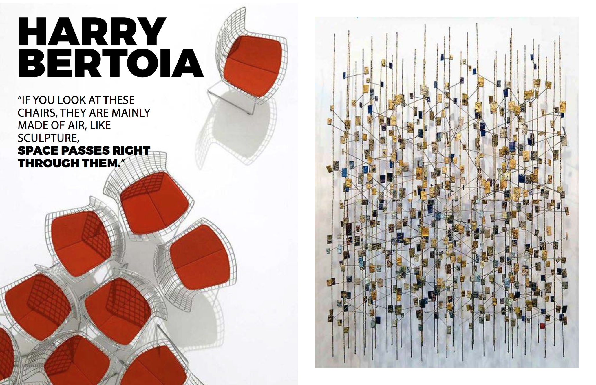 Left: Image courtesy of Knoll, Right: Sculpture