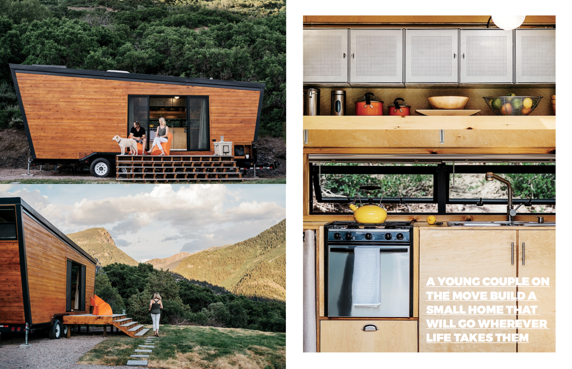 """The amazing """"Woody"""" These images first appeared on Dwell in A Tiny DIY Trailer Home Built by a couple on a budget at  Dwell here ."""
