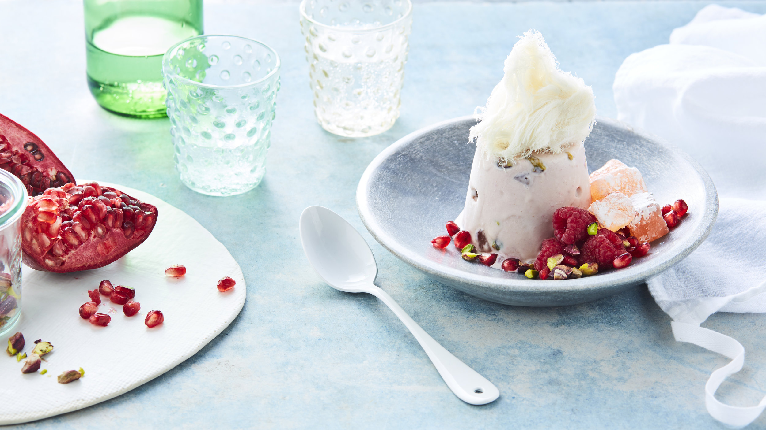 Turkish Delight Icecream Timbals, Photography: Brett Stevens, Art Direction: Anne Marie Cummins, Food and Props Styling: Marcus Hay