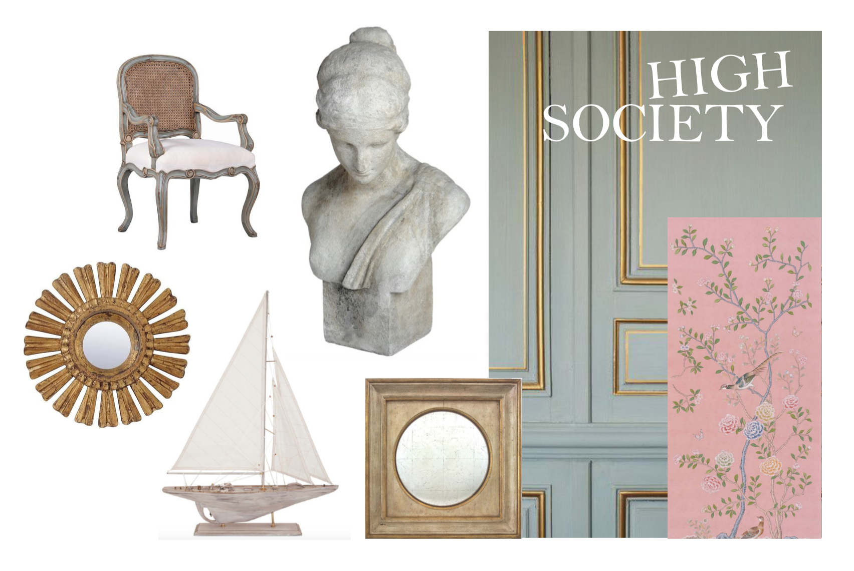 Gold gilding, model boats, gold trim and classical busts, still some of my favorite things