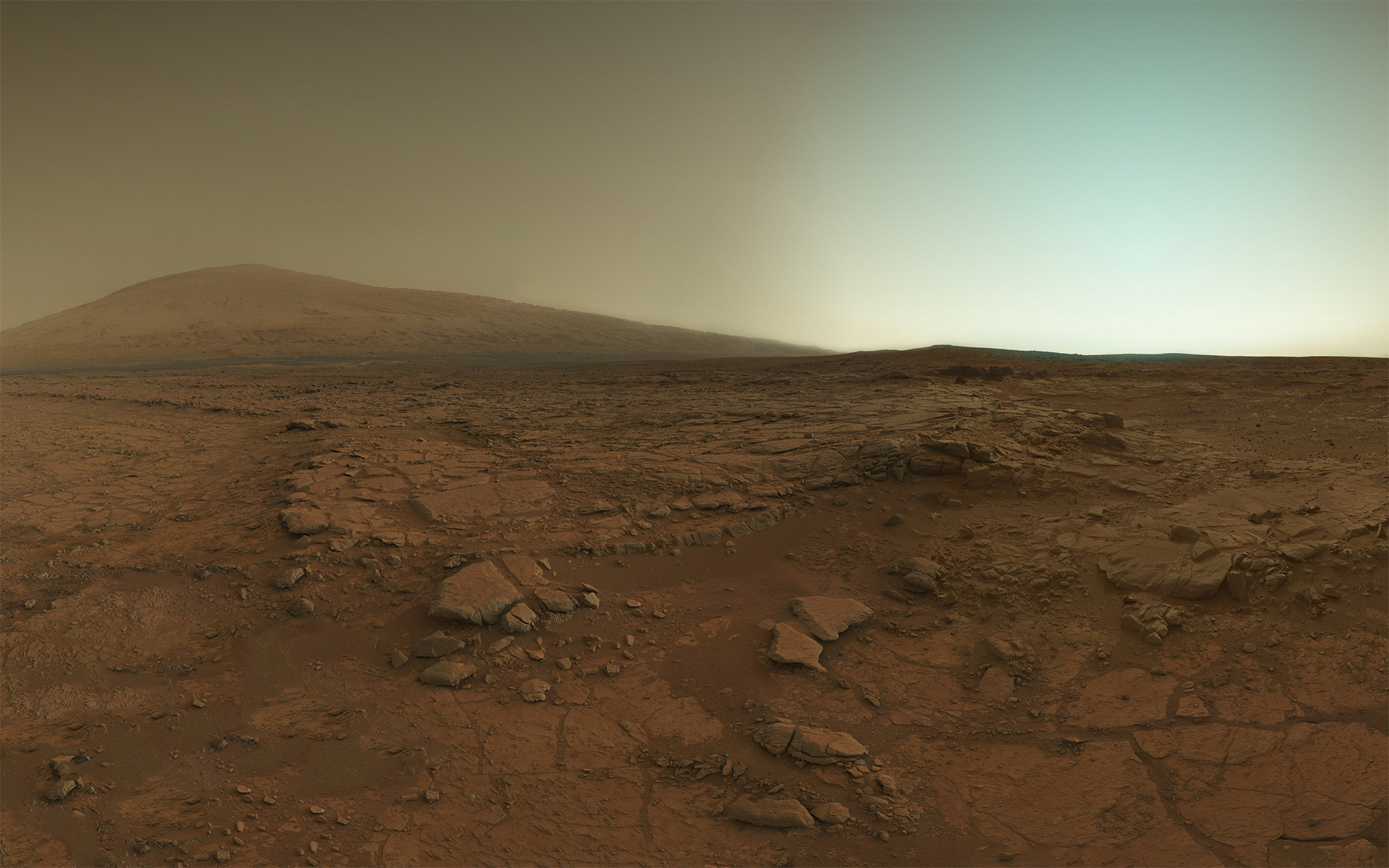Mars at sunset, as taken by the Mars Curiosity rover