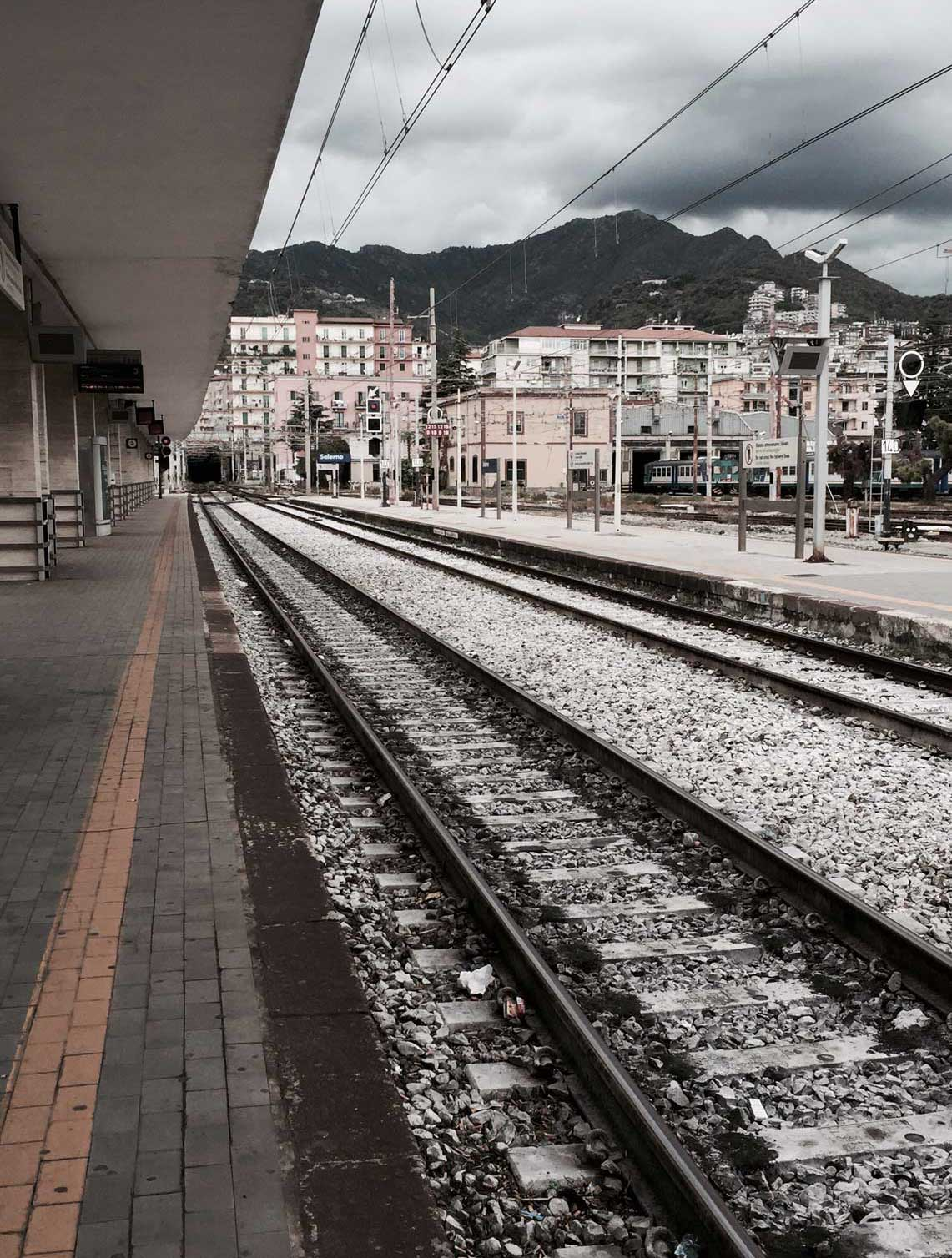Waiting for the train, Salerno, Italy