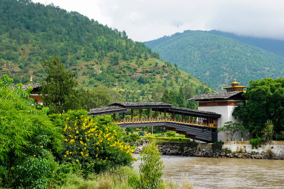 Bridge at Punakha Dzong over the Mother River
