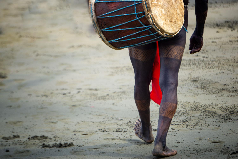 Embera man in the Darien Gap, Panama