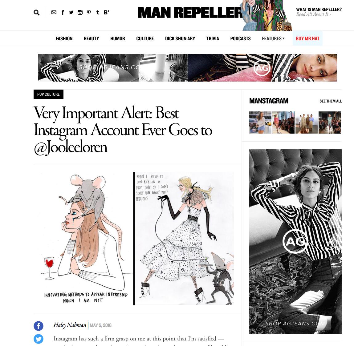 Featured on Manrepeller.com