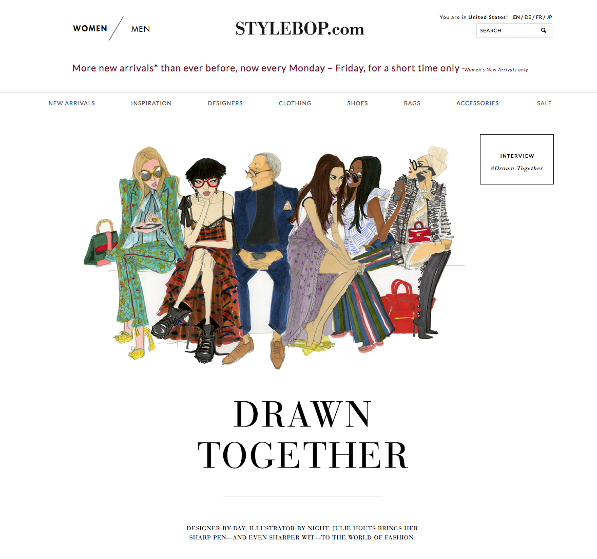 Illustrated guide to SS17 Fashion Week for Stylebop.com