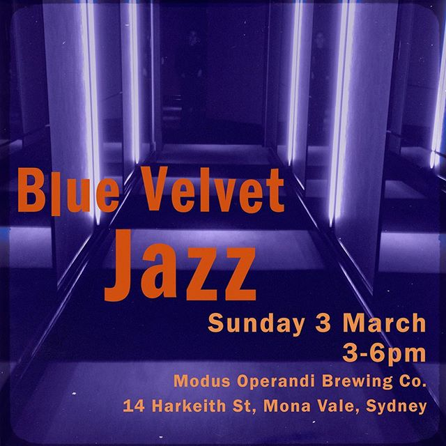 This Sunday 3 March 3pm-6pm we'll be enjoying the temperate change in the weather in the courtyard at Modus Operandi Brewery Co. in Mona Vale where the ale is pale and the hops are nothing short of exceptional. See you there. . . . . . #livejazz #northernbeaches #sydneyjazz #livemusic #bluevelvetjazz #northernbeaches #sydneyeats #sydneywine #sydneyfoodie #sydneyfoodblogger #urbanlisted #manlylocal #zomatoaus #sydneyfood #zomatosydney #northernbeacheslocal #manlyeats #yelp #tripadvisor #manlybeach #locallivingmanly #lovemanly #manlyJazz #weddingmusic #monavale #jazzband