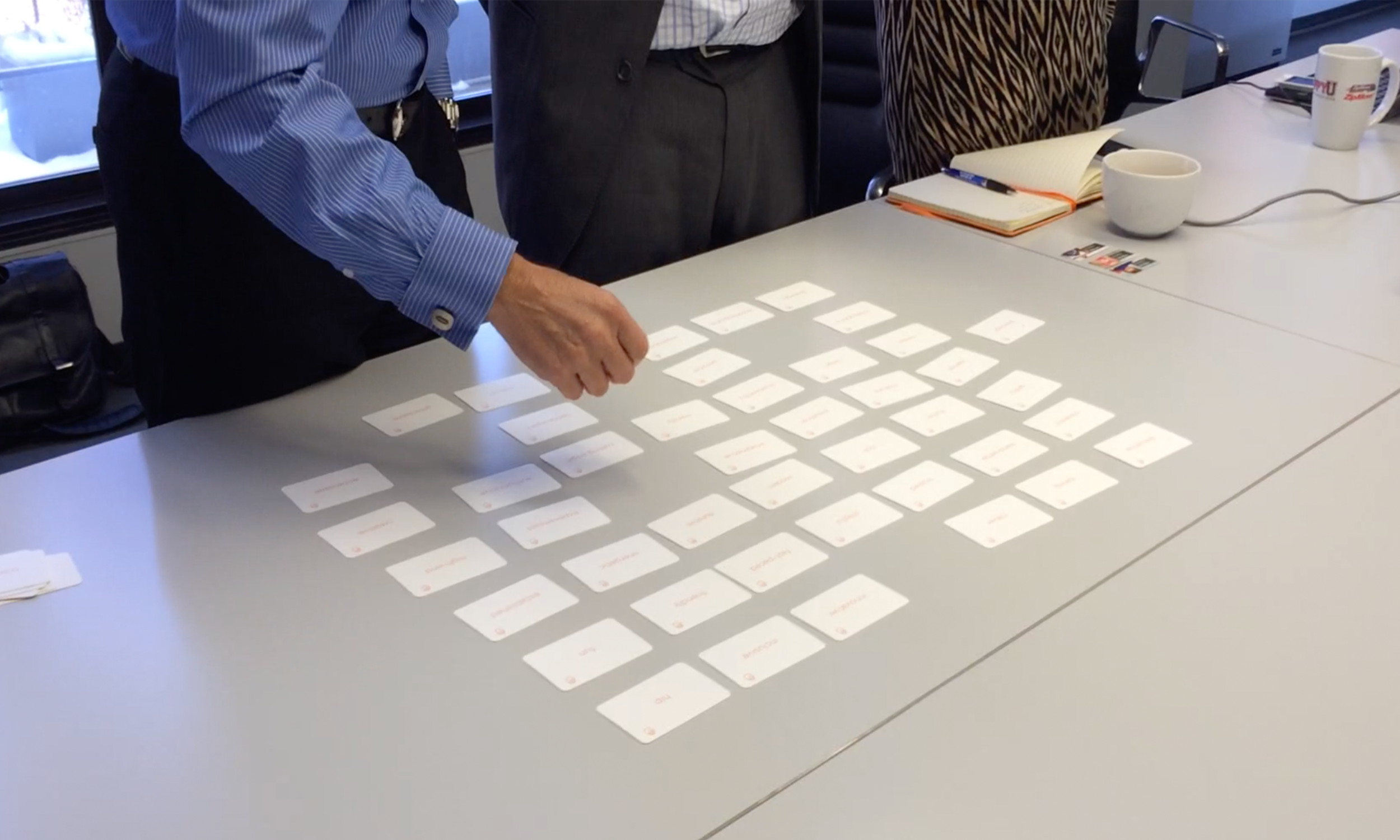 Brand card sorting exercises with CEO, CMO, Marketing Director and team.