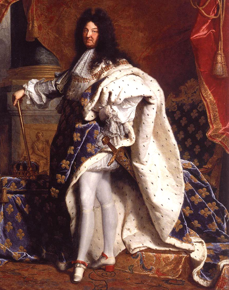 "Hyacinthe Rigaud, Portrait of Louis XIV, 1701. 9'2""x 5'3"""