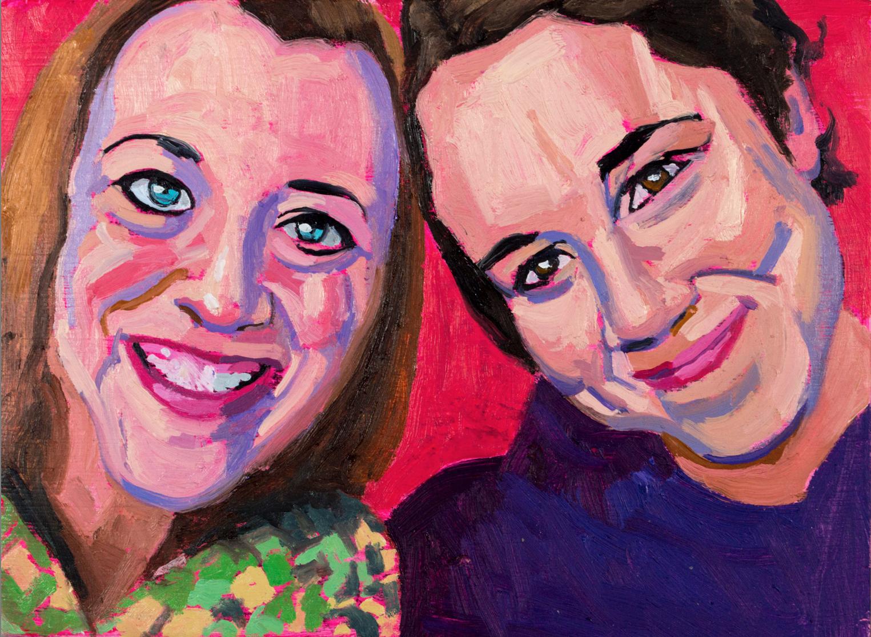 Knox students Alexandra Byerly and Emily Johnson
