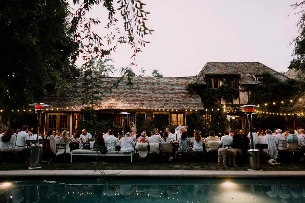 Bohemian Outdoor Wedding Tablescape, Alfresco Dining, Wedding Planning: Art & Soul Events