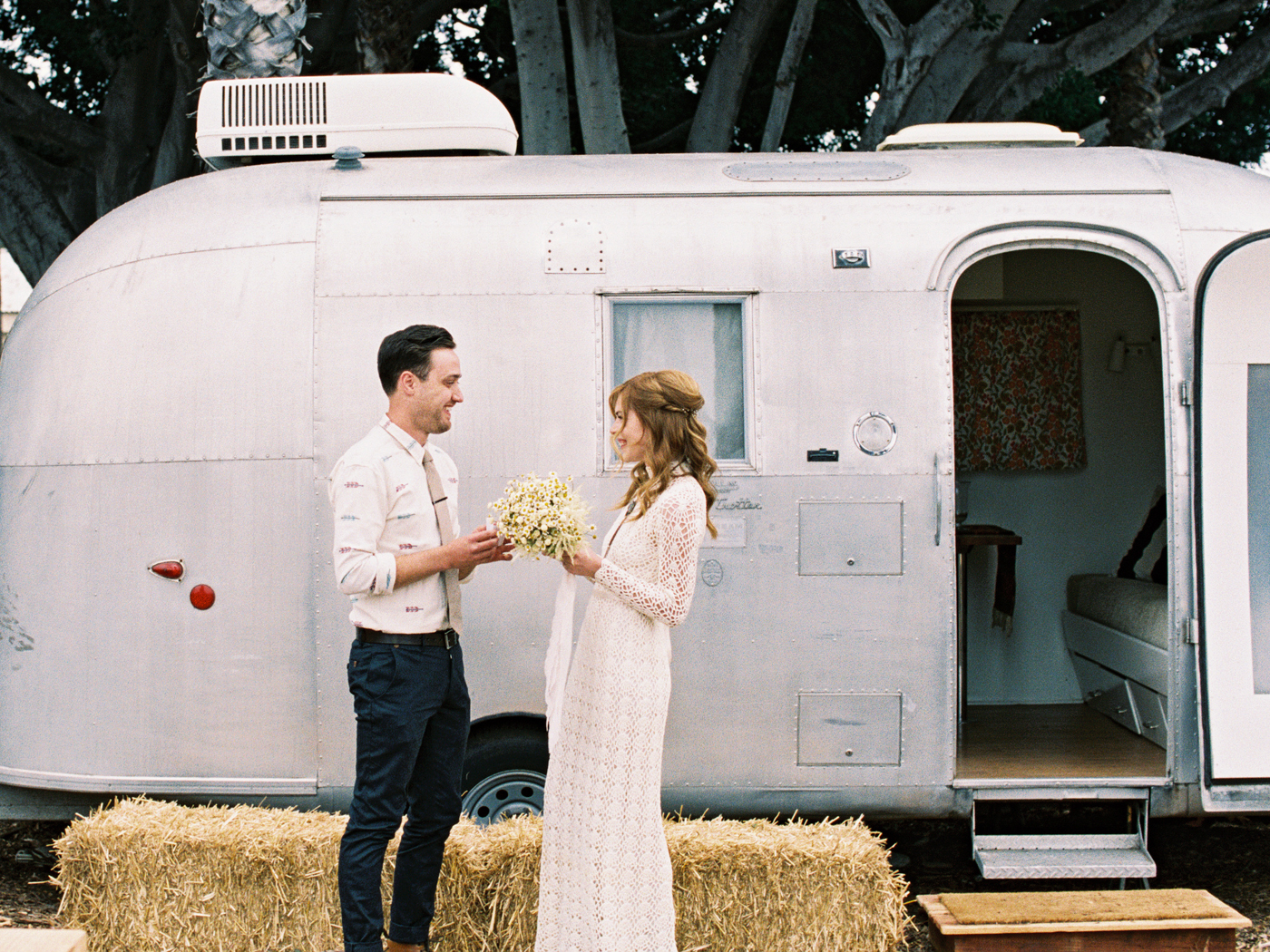 Pretty Little Fawn's Bohemian Wedding, Vintage Airstream Wedding Details, Art & Soul Events