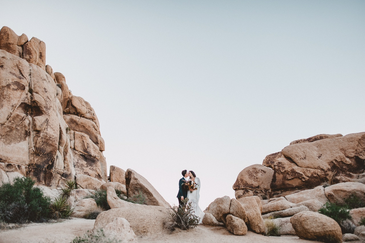 Indian Cove Wedding Ceremony in Joshua Tree, Planning: Art & Soul Events