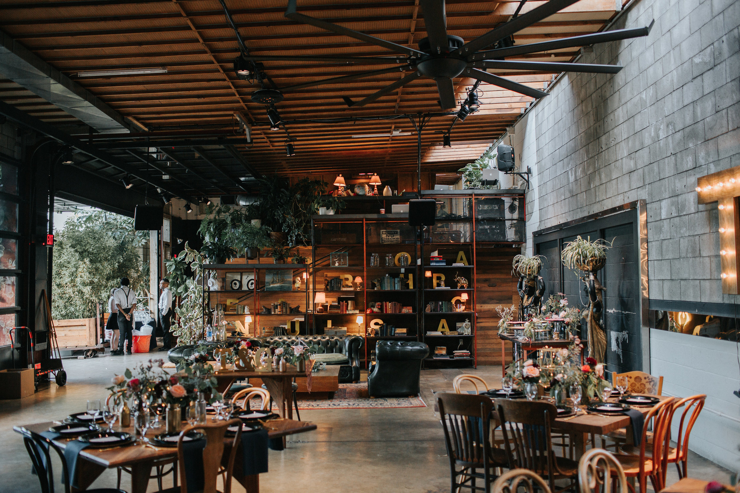 Eclectic SmogShoppe Wedding Reception Design, Planning: Art & Soul Events