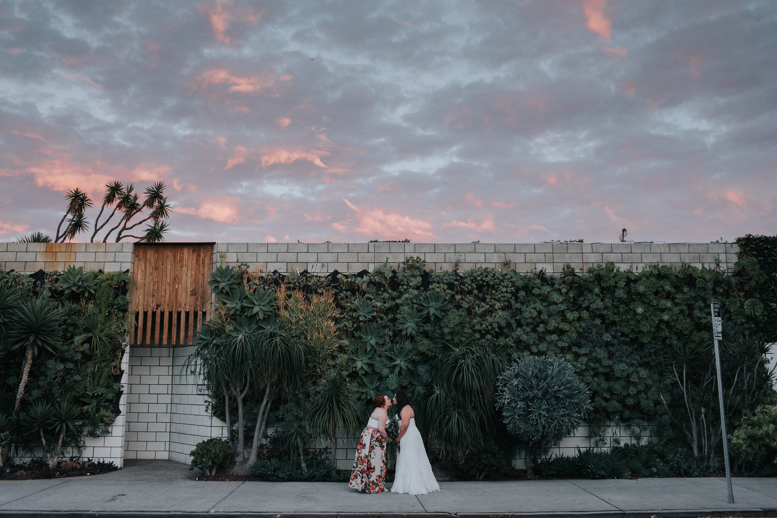 SmogShoppe Wedding, Outside Succulent Living Wall. Art & Soul Events