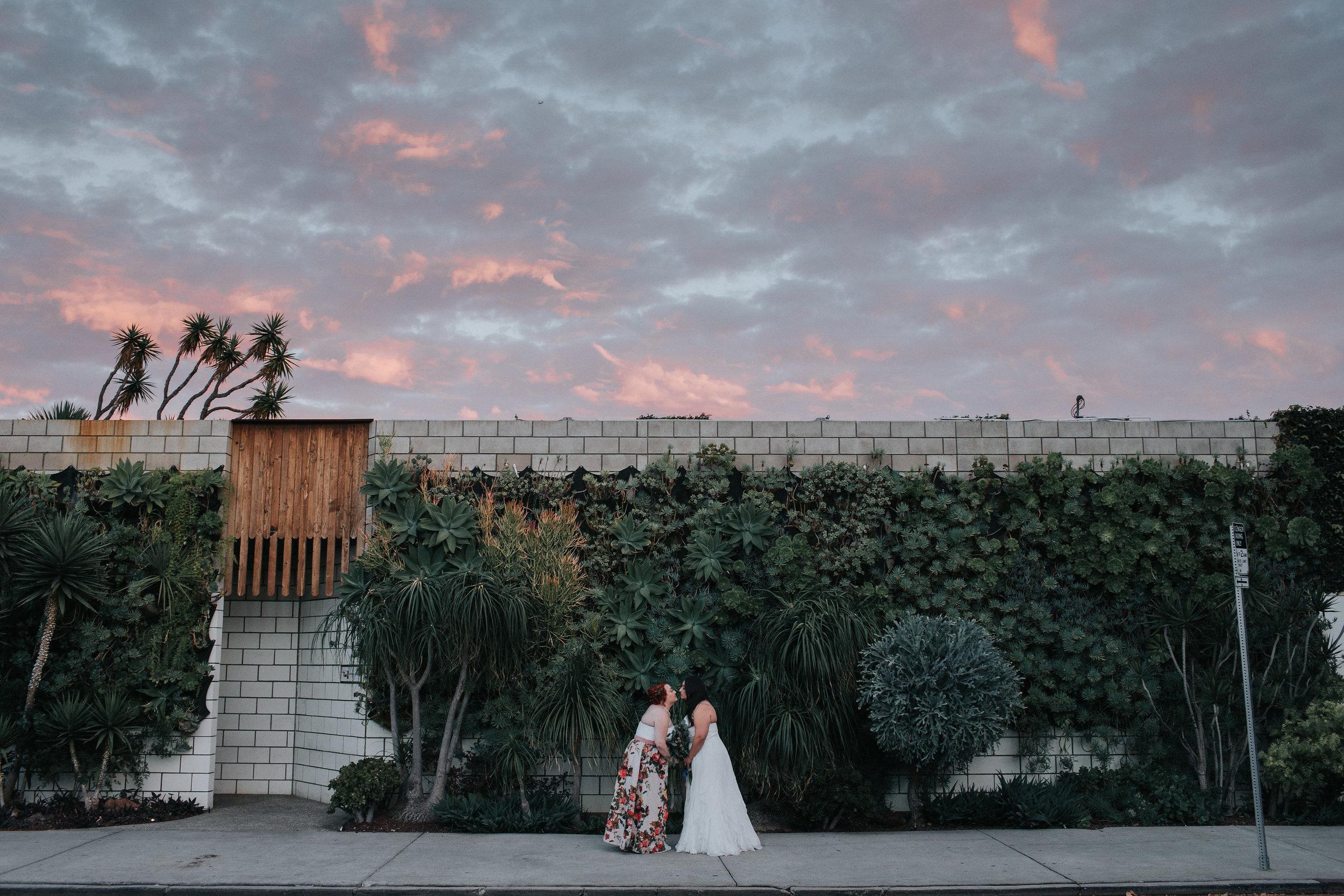 Smog Shoppe Wedding at Sunset
