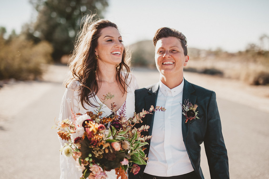 Boho desert wedding bouquet
