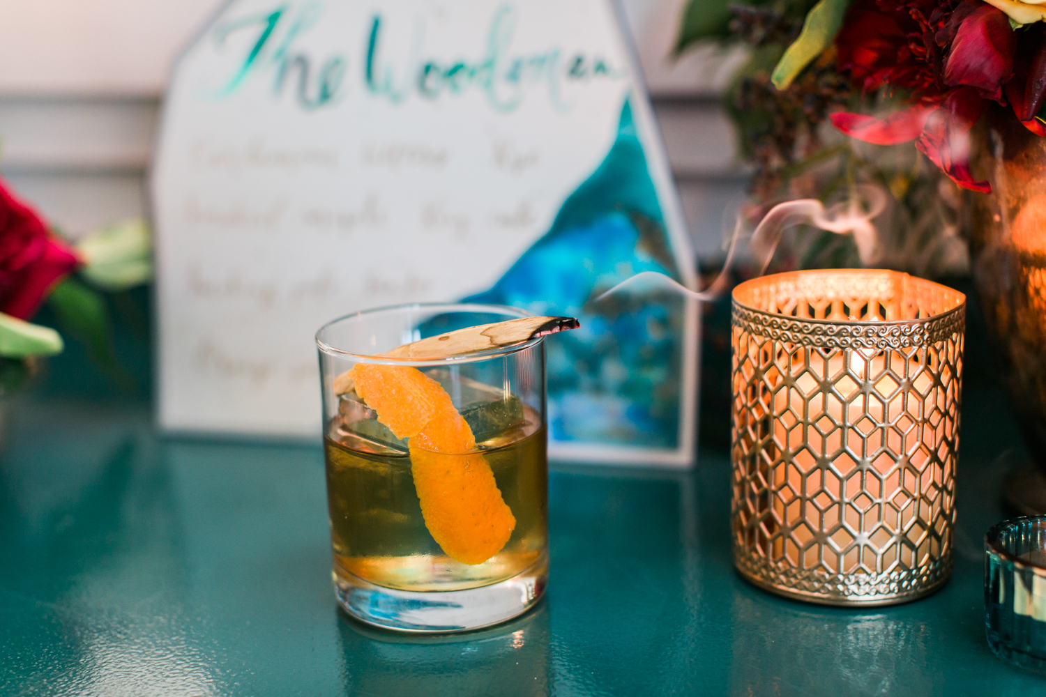 Pharmacie LA Craft Cocktail, The Woodman, Smoking Palo Santo, planned by Art & Soul Events