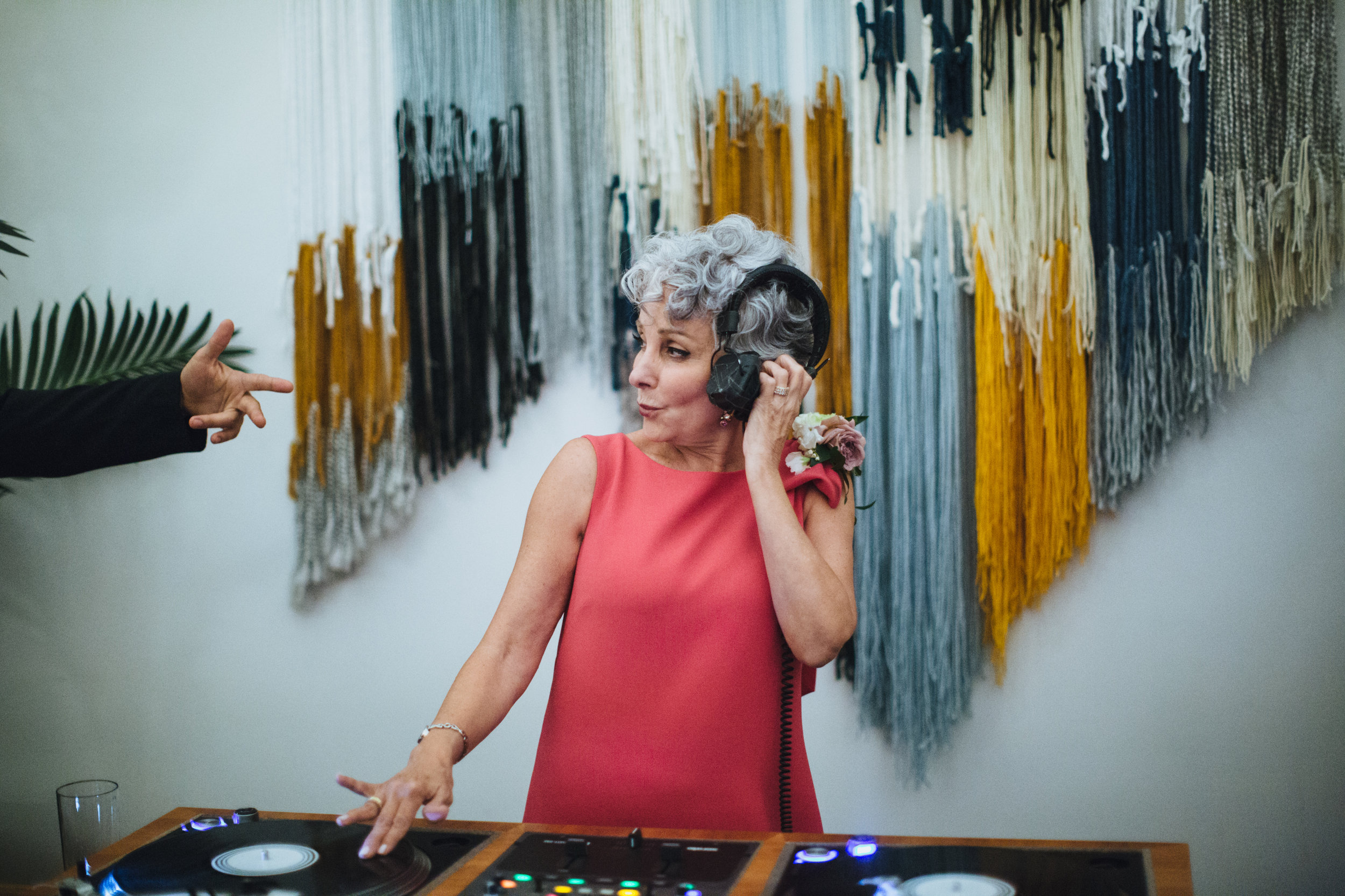 Dart Collective, Mother of The Bride on the turn tables, Art & Soul Events, Photographer: Rad + In Love