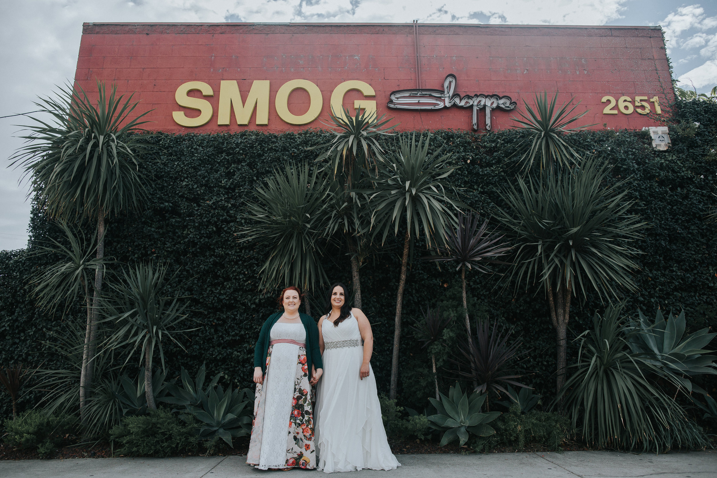 SmogShoppe Wedding, Art & Soul Events, Two brides, Eclectic Wedding