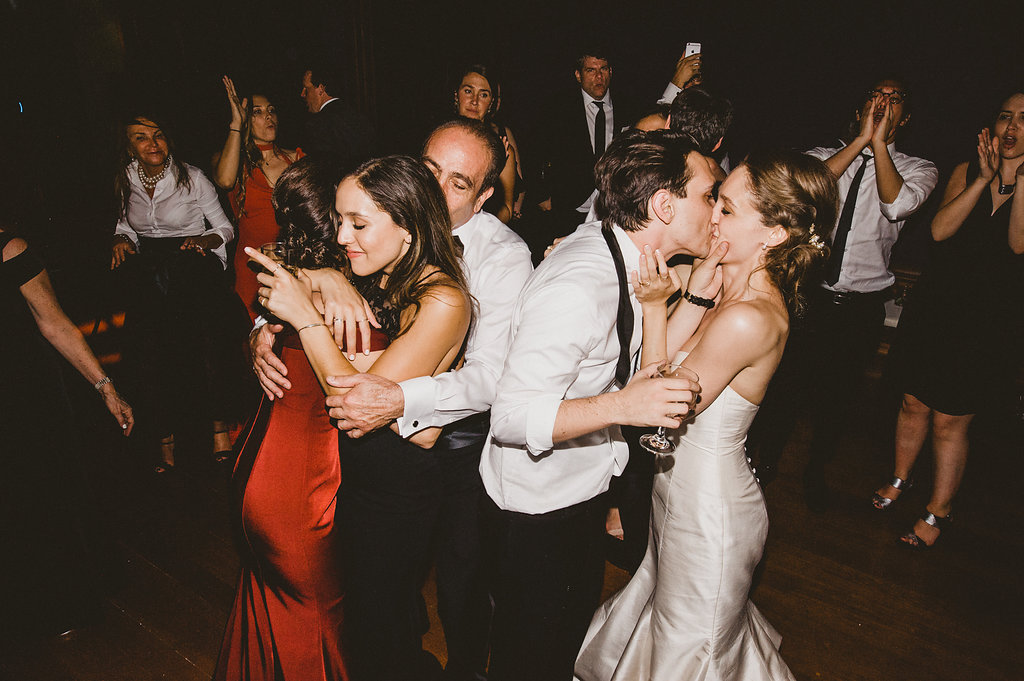 Paramour Estate Wedding, Ballroom Reception Dance Party Wedding, Bride & Groom Kiss, Paramour Mansion, Los Angeles Venue, Planning by Art & Soul Events, EP Love Photography