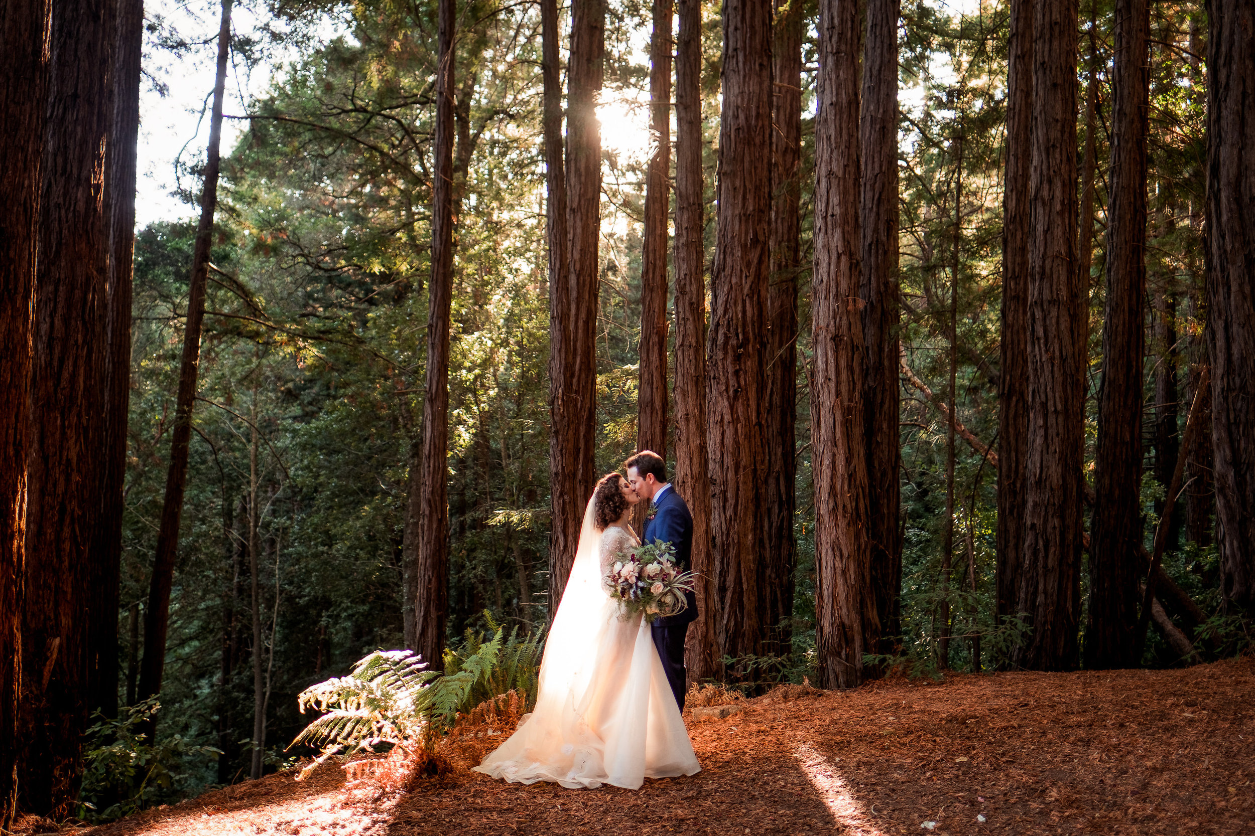 Magical Woodland California Wedding Venue, Sequoia Retreat Center, Art & Soul Events, Nordica Photo, Curly haired bride, Air Plant bouquet & flowers, Monique Lhuillier and Claire Pettibone Veil