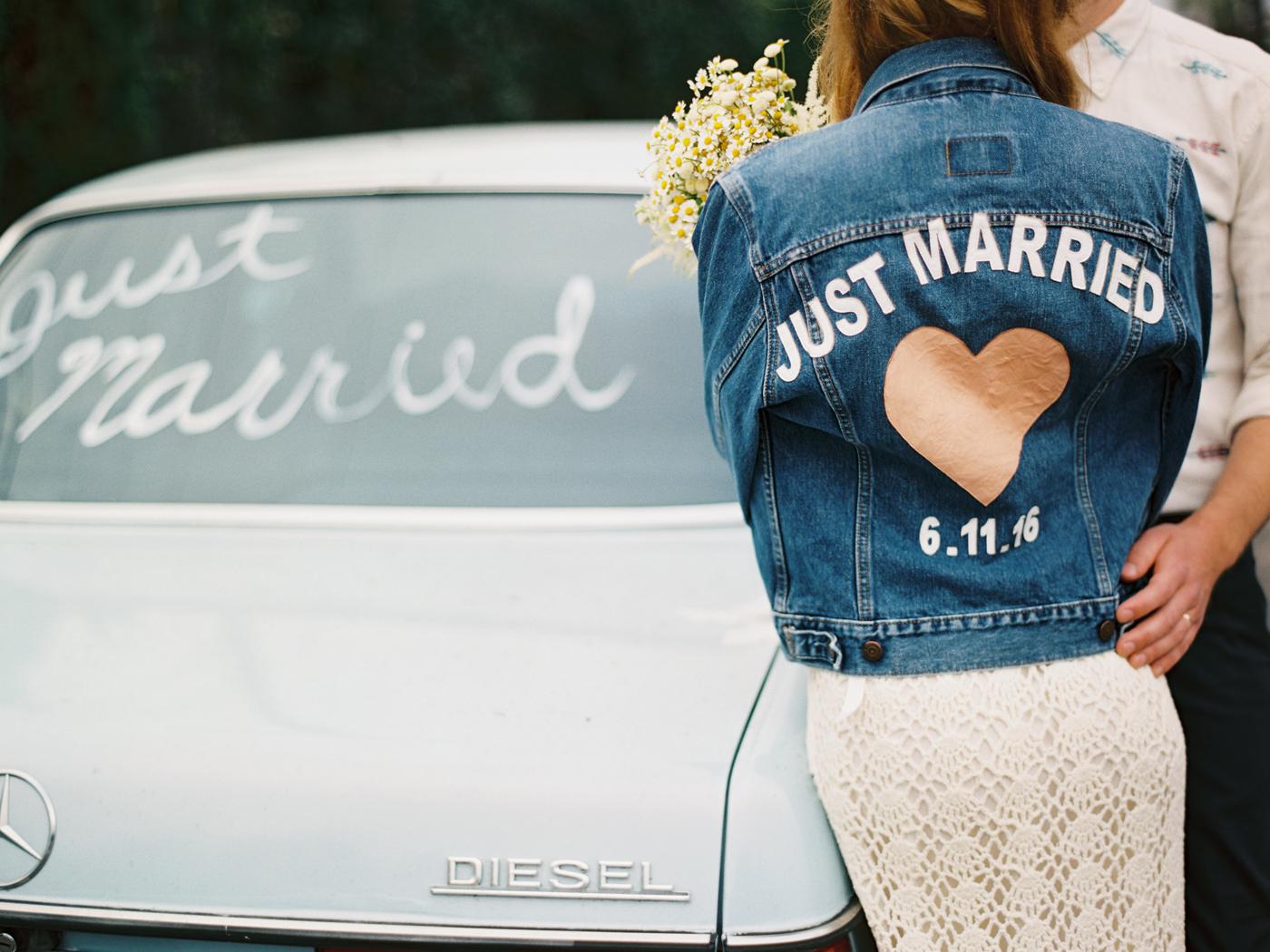 Pretty Little Fawn's Wedding, Custom Just Married Jean Jacket, Art & Soul Events