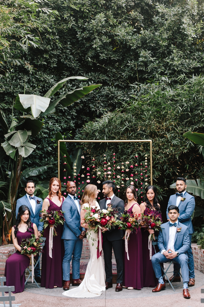 Kristen + Ruchi   //  Photographer:  Heather Kincaid,   Foxtail Florals  Poruwa:  Thrifted Sister Vintage