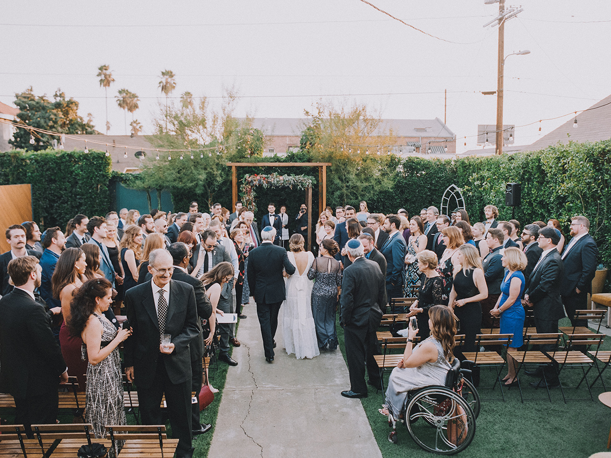 The Ruby Street Los Angeles Wedding Venue, Outdoor Ceremony Chuppah, Art & Soul Events, Mandee Johnson Photography