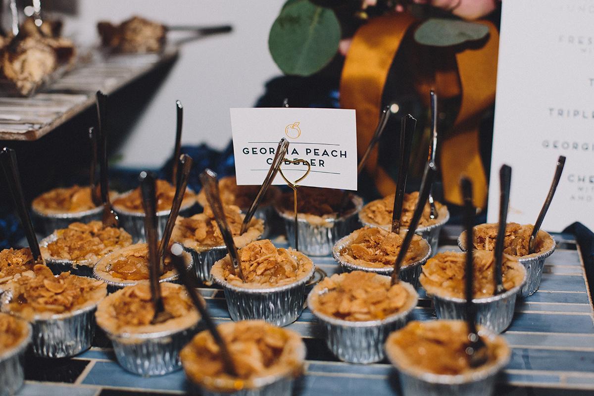 Peach Cobbler Wedding Dessert Bites, Amy's Culinary Adventures