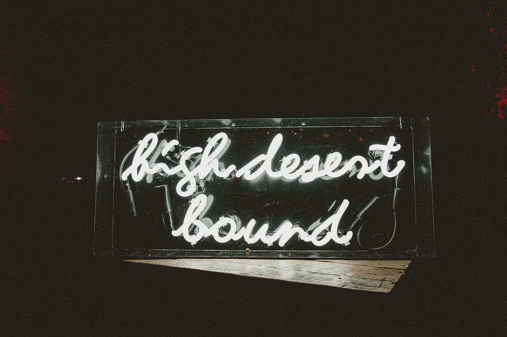 High Desert Bound Custom White Neon Wedding Sign, Art & Soul Events