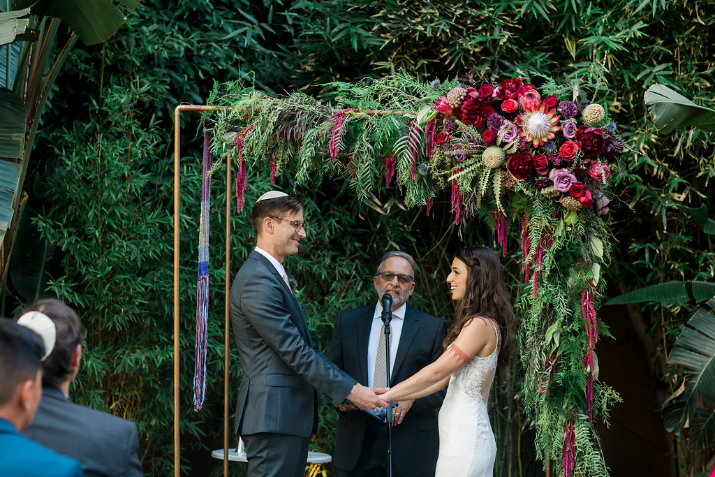 Eclectic Industrial Jewish Millwick Wedding, Downtown Los Angeles Venue