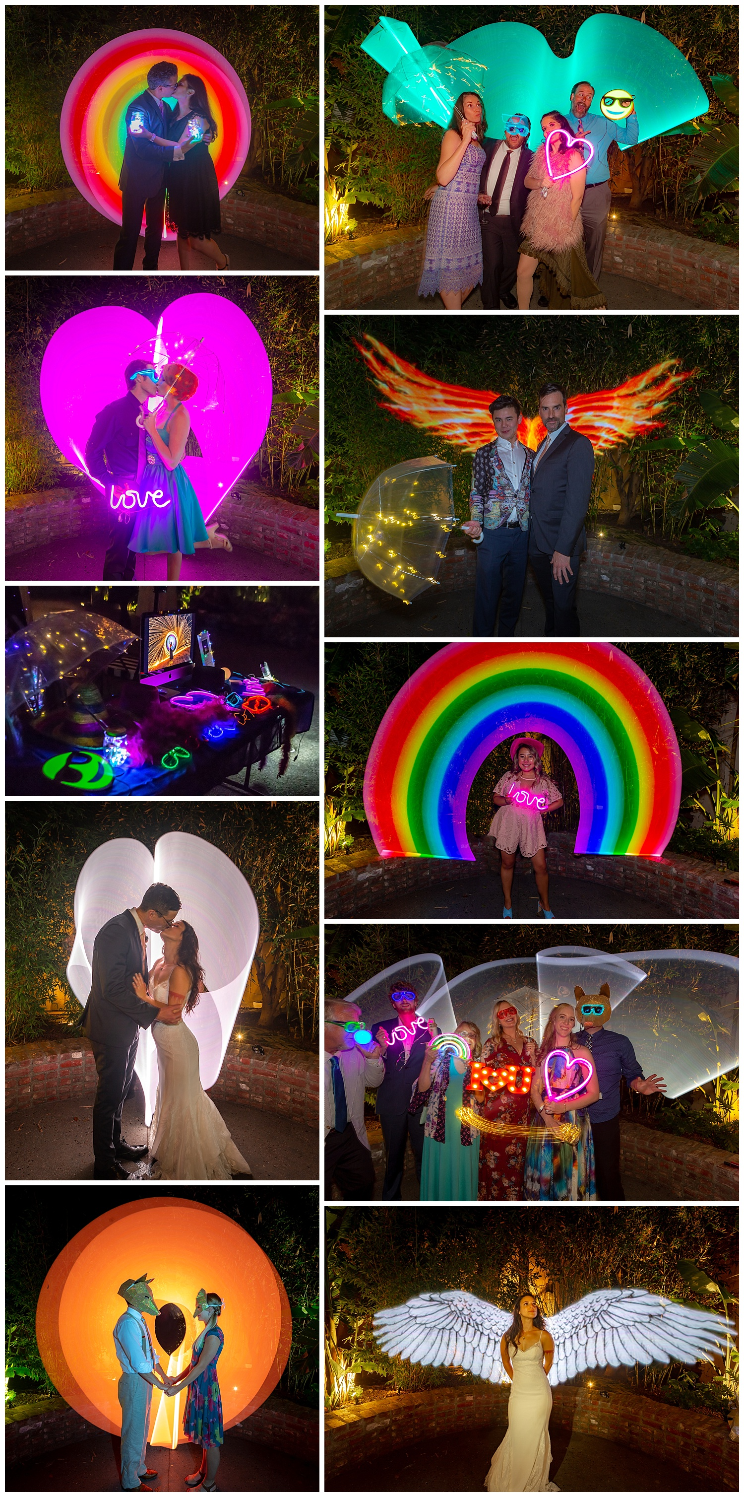 Unique festival inspired photo booth . Long exposure light painting photography, Art & Soul Events