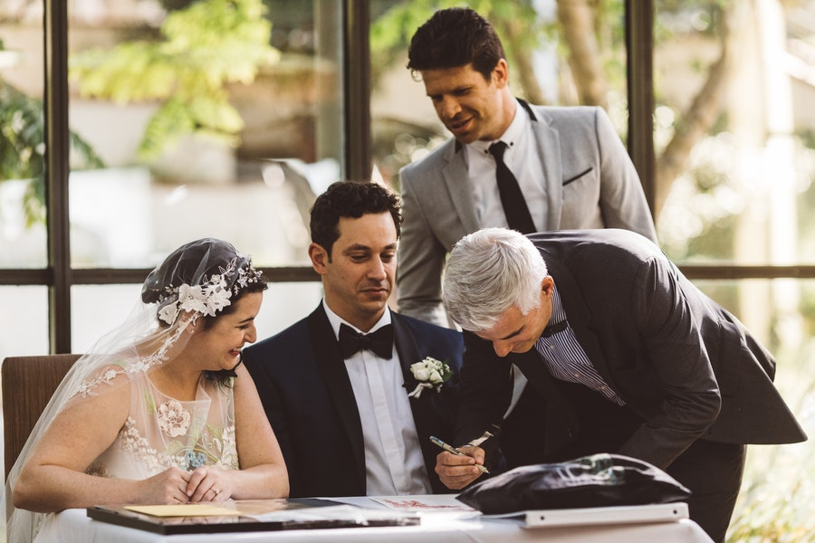 Ketubah signing,  Jewish Wedding Ceremony at MountainGate Country Club, Photographer:  Steve Cowell