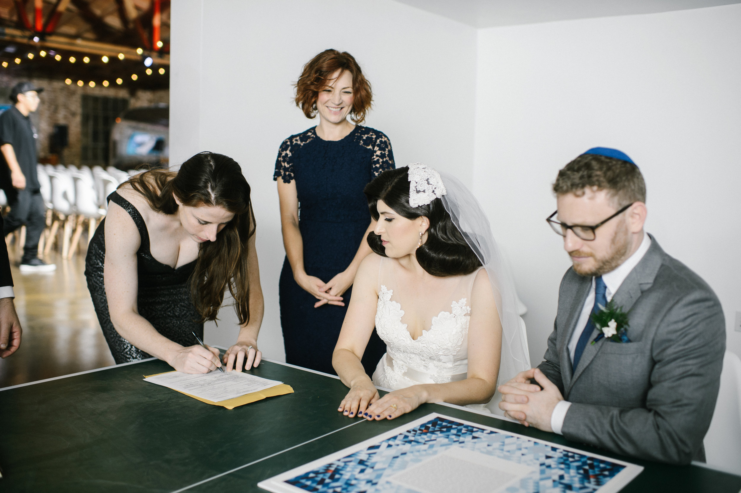 Marriage License Witness at LA River Studios, Photographer: Our Labor of Love