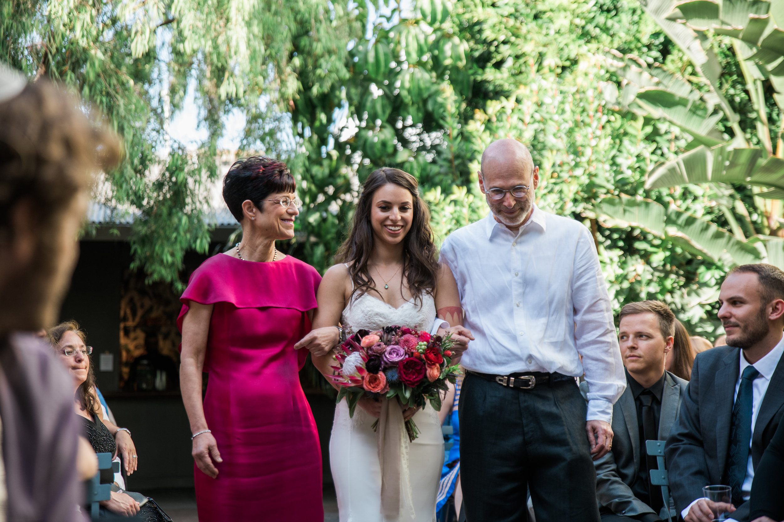 Bride's Processional at Millwick, Photographer:  Casey Brodley , Floral Design:  Shindig Chic