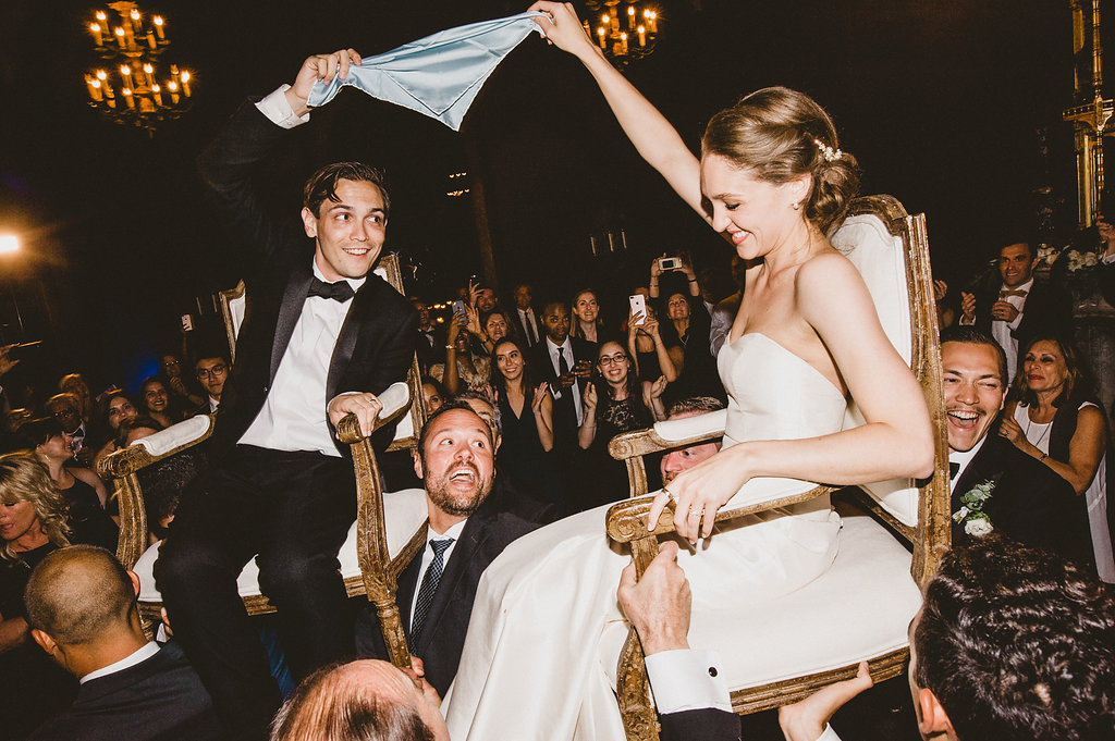 Hora, Modern Jewish Wedding at The Paramour Estate, Los Angeles, CA. Photographer: EPlove