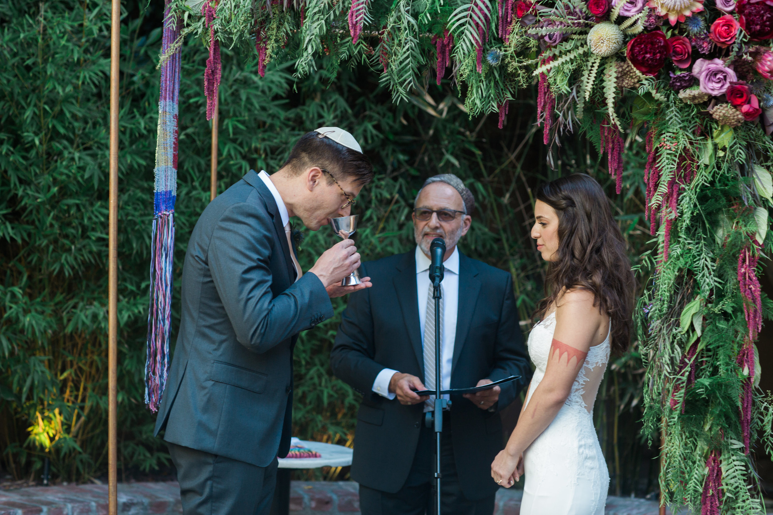 Kiddush cup,  Jewish Wedding Ceremony at Ruby Street, Photographer:  Casey Brodley,  Florals:  Shindig Chic