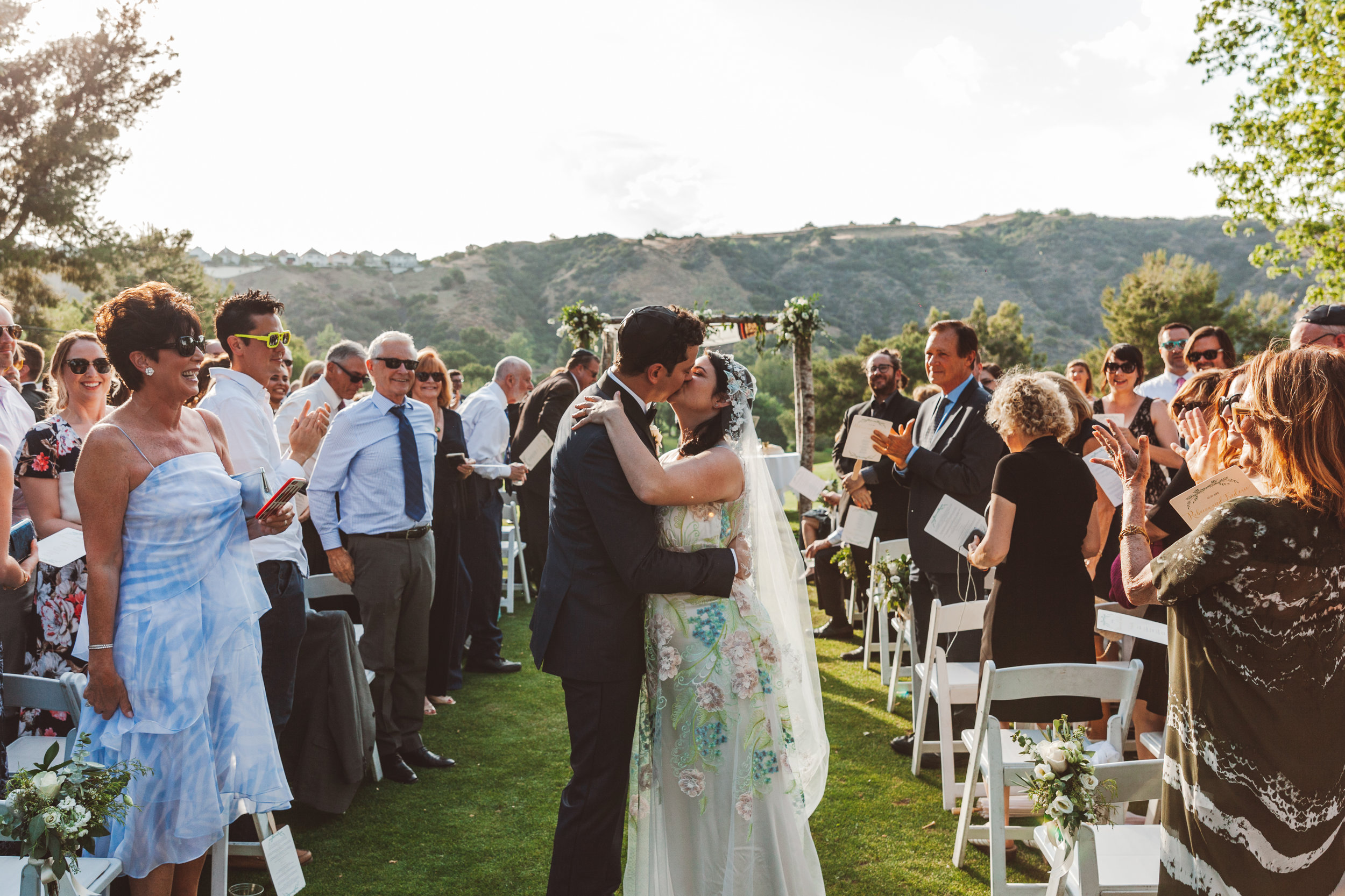 Recessional,  Wedding Ceremony at Mountaingate Country Club, Los Angeles. Photographer:  Steve Cowell