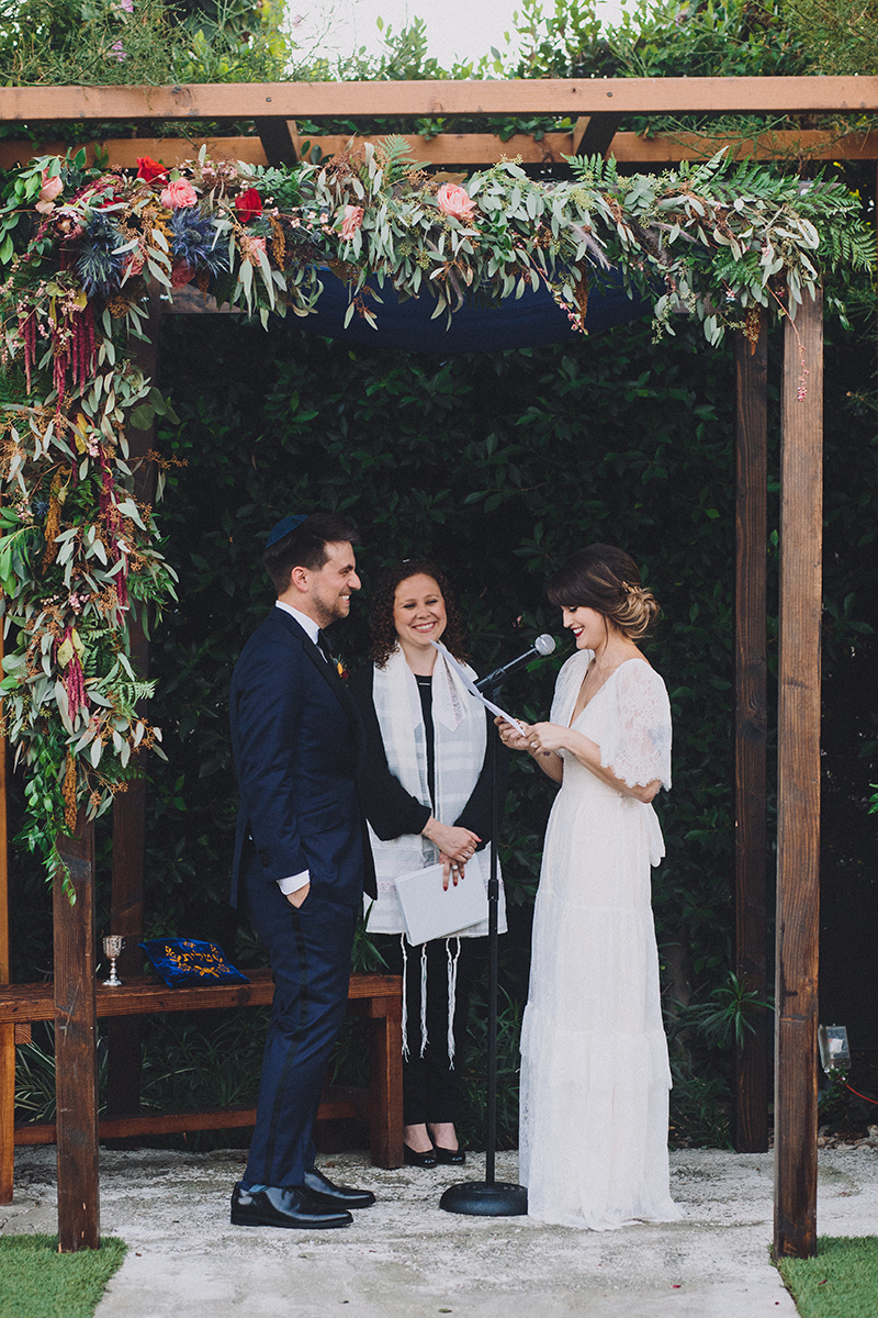 Reform Jewish Wedding Ceremony at the Ruby Street in Los Angeles, CA. Photographer  Mandee Johnson