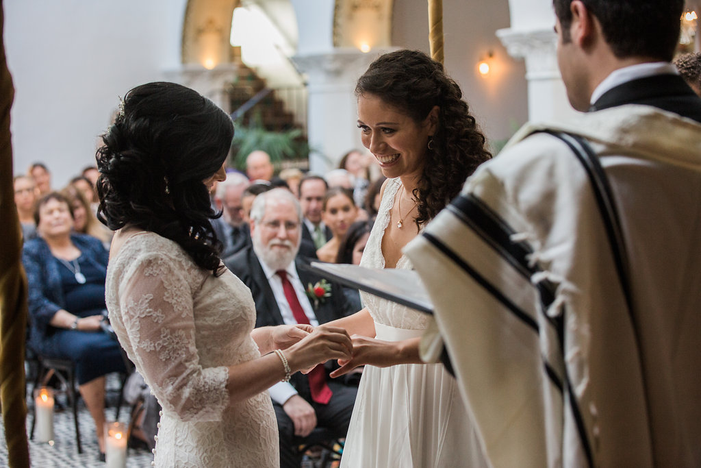 Modern Jewish Wedding Ceremony at Ebell Club of Long Beach, Photographer  Casey Brodley