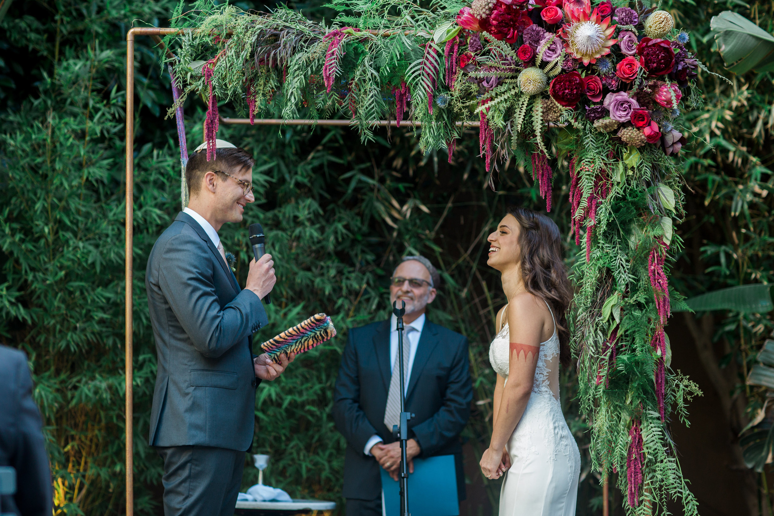 Personal Vows, Jewish Wedding Ceremony  at Millwick. Photographer:  Casey Brodley , Florals:  Shindig Chic