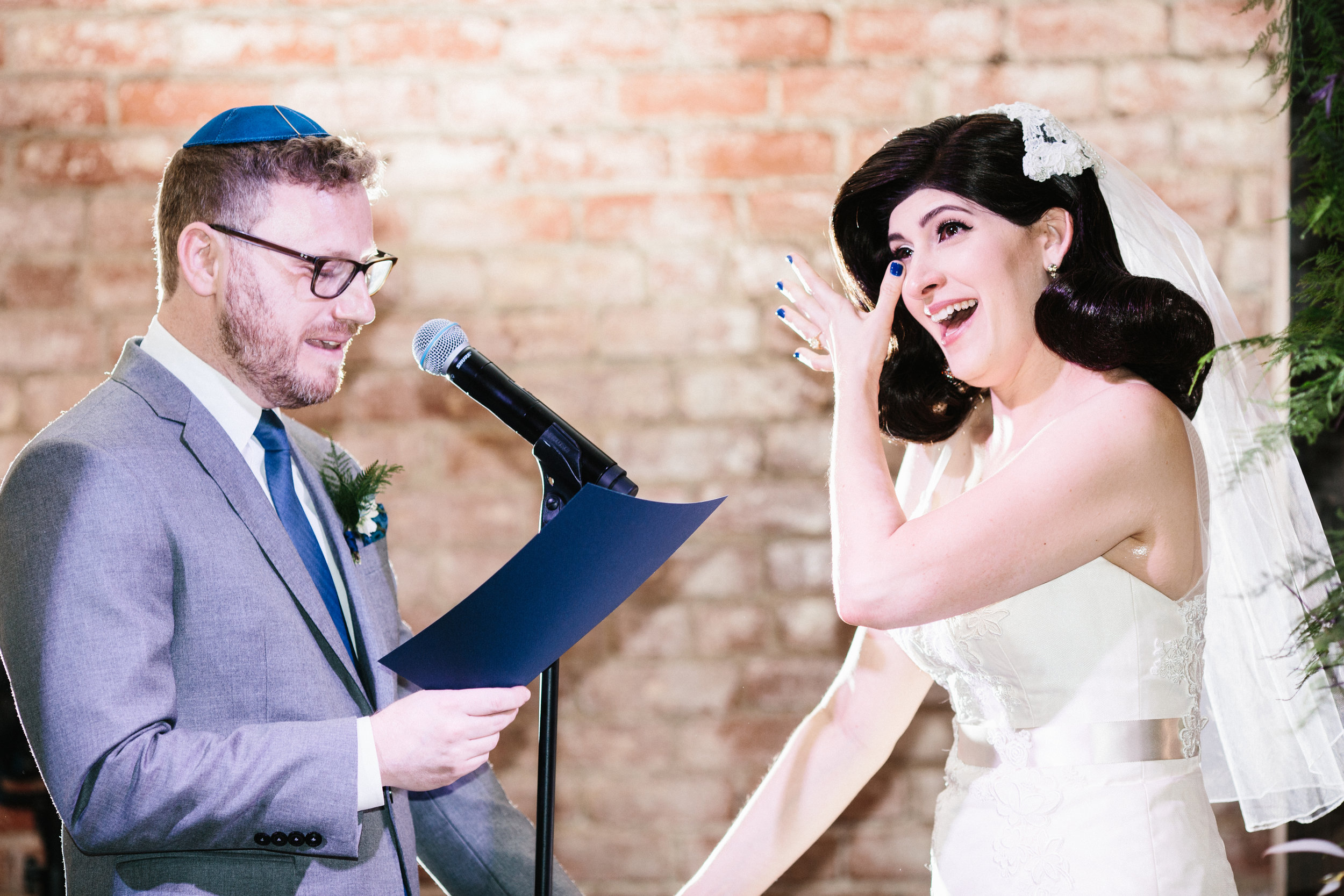 Personal Vows, Jewish Wedding Ceremony at LA River Studios, Photographer: Our Labor of Love