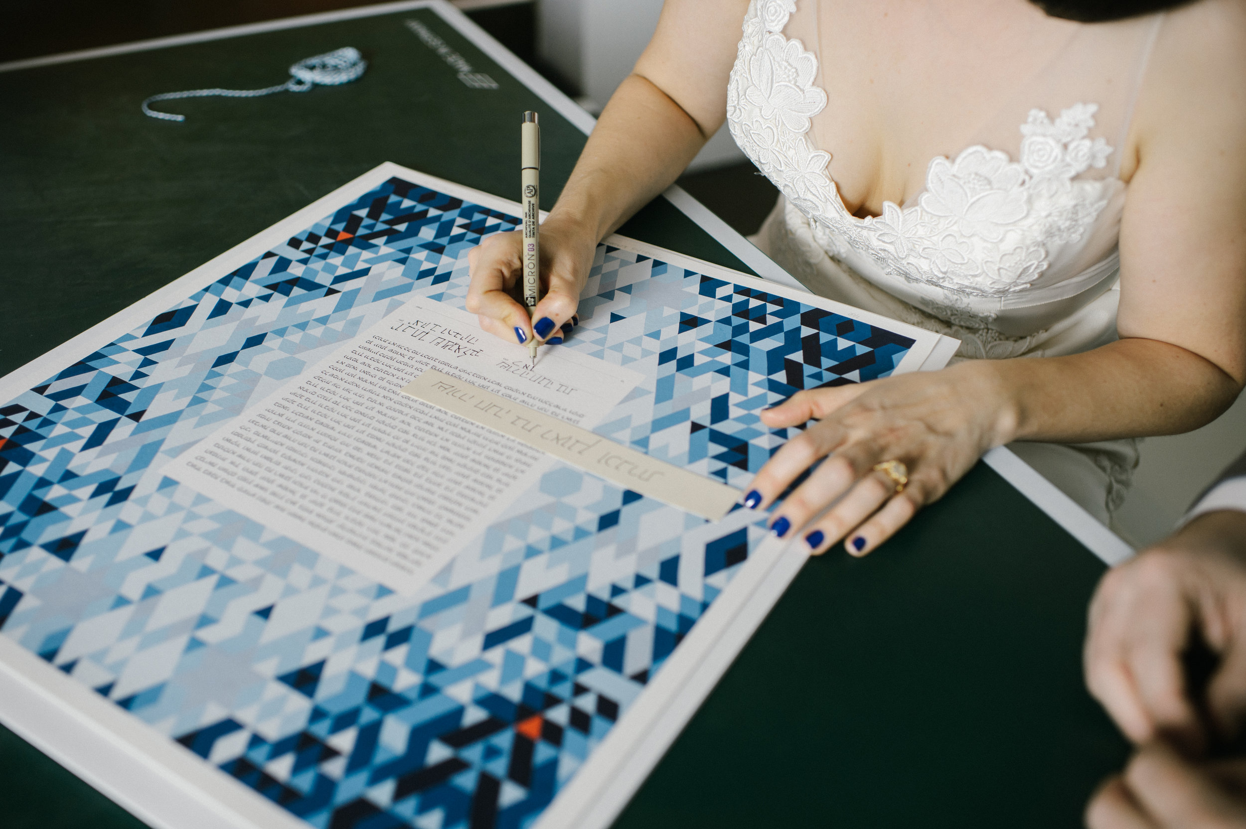 Ketubah Signing  at LA River Studios, Los Angeles, CA. Photographer:  Our Labor of Love