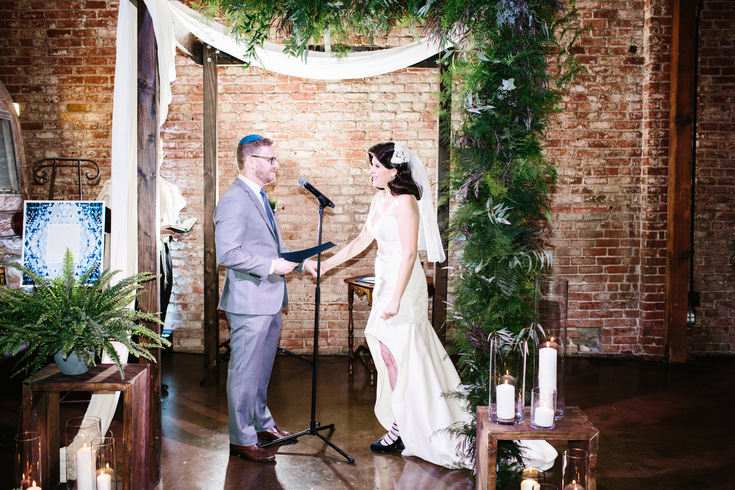 Chuppah , Jewish Wedding Ceremony at LA River Studios, Photographer:  Our Labor of Love , Floral Design:  Whit Hazen