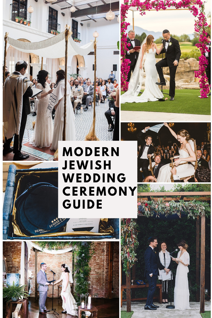 Pin our  Modern   Jewish Wedding Ceremony Guide  to read later. Photographers: Casey Brodley, Kathleen Geiberger, Mandee Johnson, EPLove, and Our Labor of Love