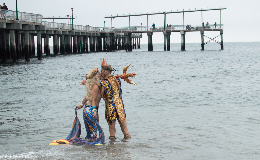 Mat Fraser and Julie Atlas Muz at the 2015 Coney Island Mermaid Parade